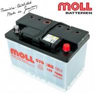 Baterie auto MOLL KAMINA START CLASSIC 80Ah 580090064