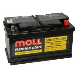 Baterie auto MOLL KAMINA START 80Ah 580075068