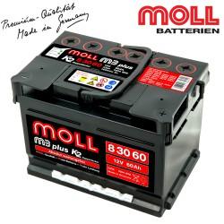 Baterie auto MOLL M3 PLUS K2 83060 60Ah