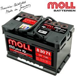 Baterie auto MOLL M3 PLUS K2 83071 71Ah