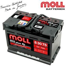 Baterie auto MOLL M3 PLUS K2 83075 75Ah