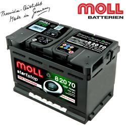 Baterie auto MOLL START-STOP EFB 82070 70Ah