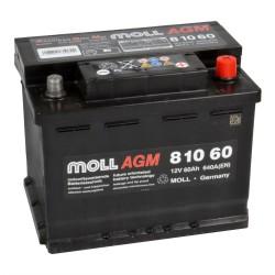 Baterie auto MOLL START-STOP AGM 60Ah 81060