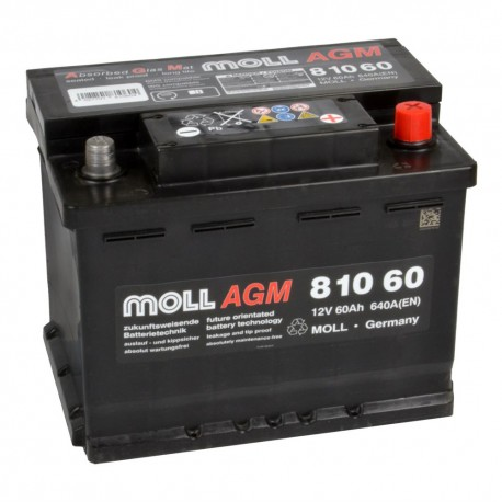 Baterie auto MOLL START-STOP AGM 60Ah 81060
