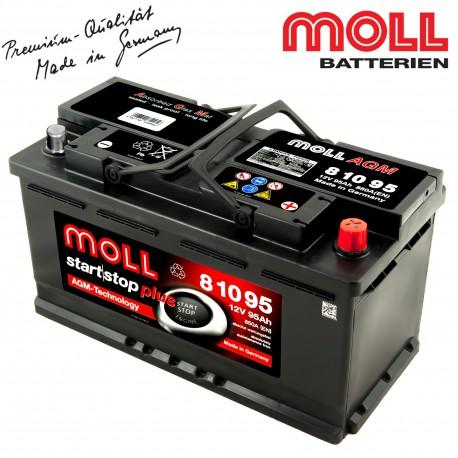 Baterie auto MOLL START-STOP PLUS AGM 95Ah 81095